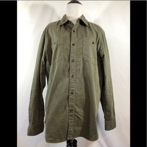 American Eagle Olive Button Up Size Large